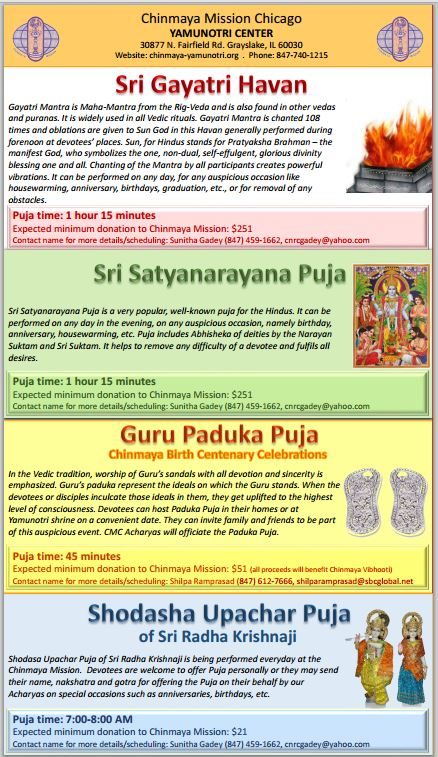 Puja Opportunities